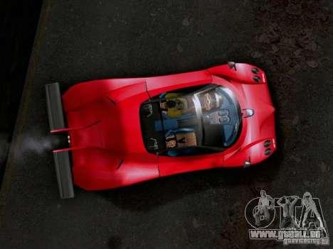 Pagani Zonda EX-R für GTA San Andreas zurück linke Ansicht
