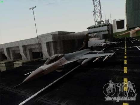 F-16C Warwolf pour GTA San Andreas laissé vue