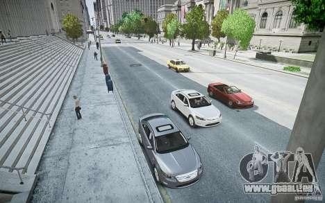 Ford Taurus SHO 2010 pour GTA 4 vue de dessus