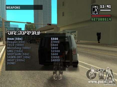 Rufen Sie Verkäufer Waffen v1. 1 für GTA San Andreas dritten Screenshot