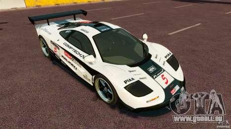 McLaren F1 pour GTA 4 Vue arrière de la gauche