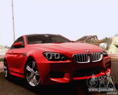 BMW M6 2013 pour GTA San Andreas vue de dessus