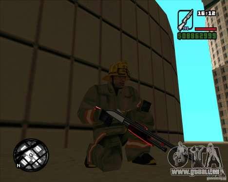 Chrome black red gun pack pour GTA San Andreas troisième écran