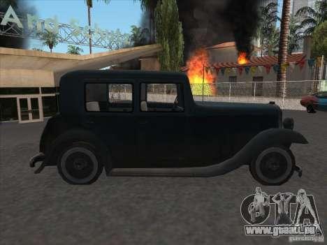 Le véhicule de la seconde guerre mondiale pour GTA San Andreas vue de droite