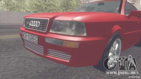 Audi S2 für GTA San Andreas zurück linke Ansicht