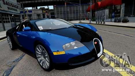 Bugatti Veyron 16.4 v1.0 wheel 2 pour GTA 4 Vue arrière de la gauche