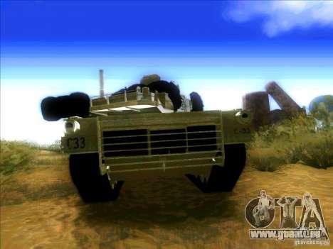 M1A2 Abrams von Battlefield 3 für GTA San Andreas rechten Ansicht