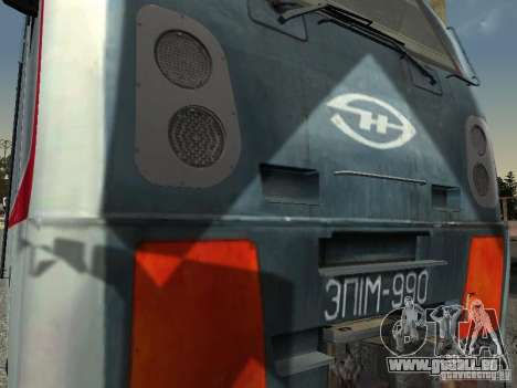 ÈP1M pour GTA San Andreas sur la vue arrière gauche