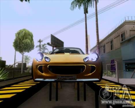 Lotus Exige für GTA San Andreas Rückansicht