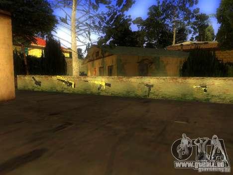 Waffen in der Grove Street für GTA San Andreas