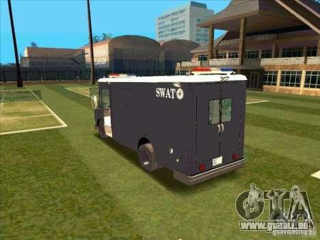 Swat Van from L.A. Police für GTA San Andreas rechten Ansicht