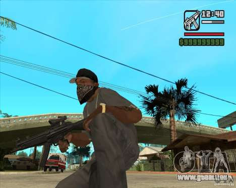 MP5 AGOG für GTA San Andreas zweiten Screenshot