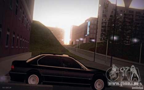 BMW 750i E38 2001 pour GTA San Andreas laissé vue