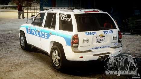 Chevrolet Trailblazer Police V1.5PD [ELS] pour GTA 4 Vue arrière de la gauche