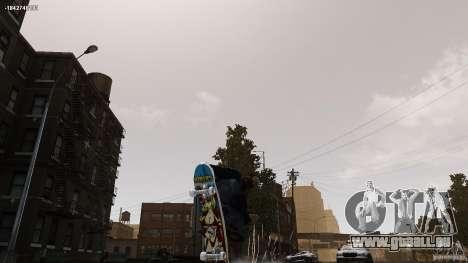 Skateboard # 4 pour GTA 4 Vue arrière de la gauche