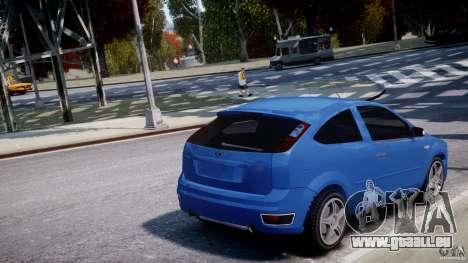 Ford Focus ST pour GTA 4 est une vue de dessous