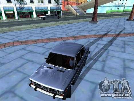 VAZ 2106 pour GTA San Andreas vue de dessus