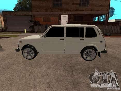 VAZ 2131 pour GTA San Andreas sur la vue arrière gauche