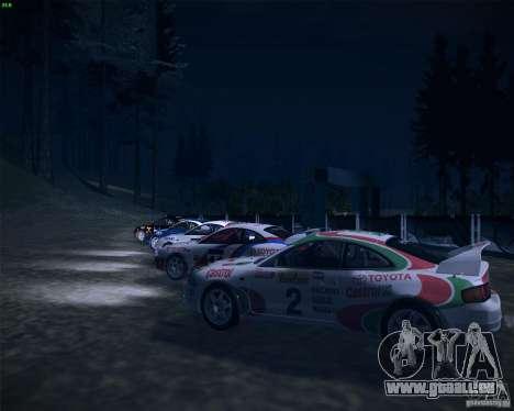 Toyota Celica ST-205 GT-Four Rally pour GTA San Andreas vue de côté