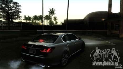 Lexus GS350F Sport 2013 pour GTA San Andreas salon