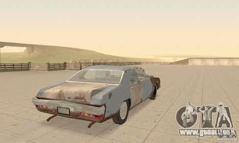 Pontiac LeMans 1970 Scrap Yard Edition für GTA San Andreas Seitenansicht