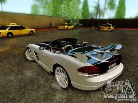 Dodge Viper SRT-10 Roadster ACR 2004 für GTA San Andreas Unteransicht