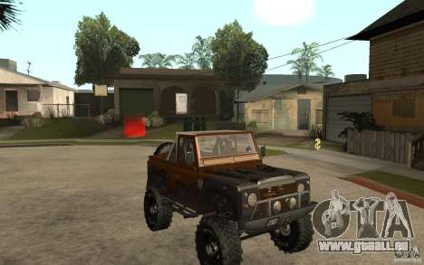 Land Rover Defender Extreme Off-Road pour GTA San Andreas vue arrière