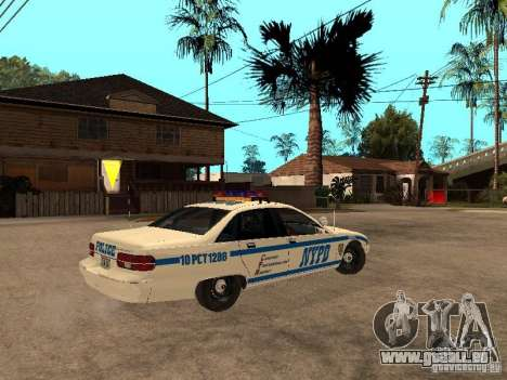 NYPD Chevrolet Caprice Marked Cruiser für GTA San Andreas rechten Ansicht