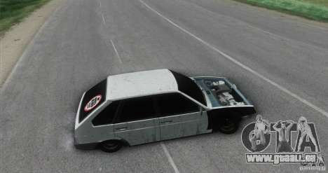 Vaz 2109 Hobo pour GTA San Andreas sur la vue arrière gauche