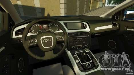 Audi A4 2010 pour GTA 4 Vue arrière