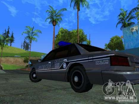 Lumpkin Country Sheriffs Office für GTA San Andreas Innenansicht