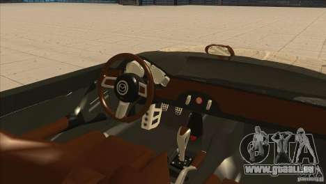 Mazda MX5 Miata Superlight 2009 V1.0 für GTA San Andreas Innenansicht