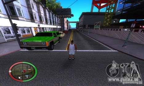 NEW STREET SF MOD pour GTA San Andreas troisième écran