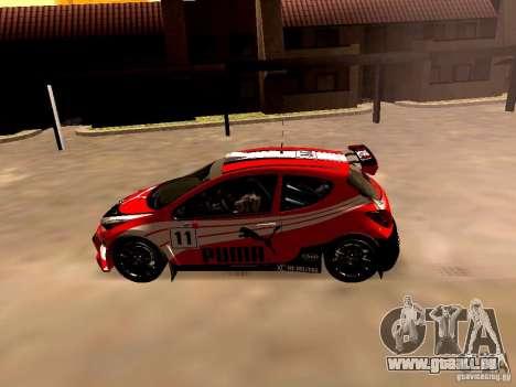 Peugeot 207 S2000 Puma pour GTA San Andreas laissé vue