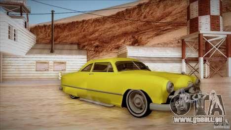Ford Coupe Custom 1949 pour GTA San Andreas laissé vue