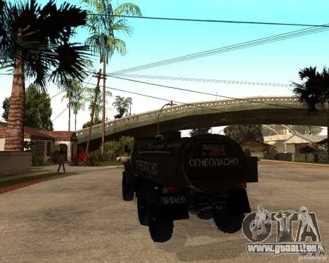 Ural 4320 camion pour GTA San Andreas vue de droite