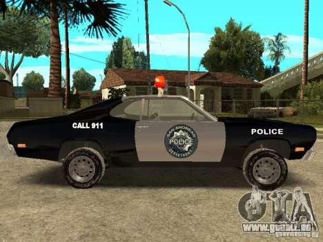 Plymout Duster 340 POLICE v2 pour GTA San Andreas laissé vue