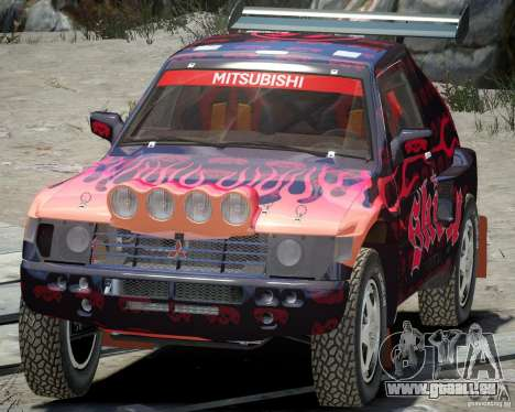 Mitsubishi Pajero Proto-Dakar EK86 Vinyl 4 für GTA 4