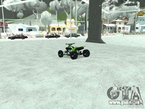 Kawasaki Monster Energy Quad pour GTA San Andreas sur la vue arrière gauche