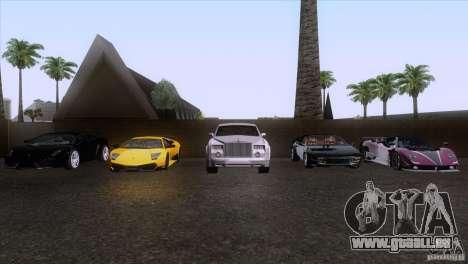 Rolls Royce Phantom Hamann pour GTA San Andreas moteur