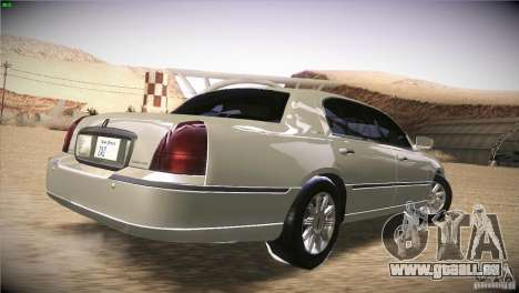 Lincoln Towncar 2010 pour GTA San Andreas vue de droite