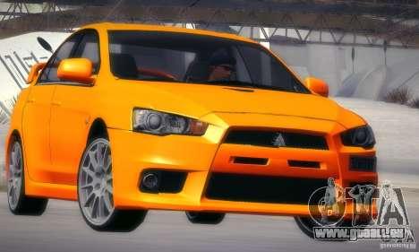 Mitsubishi Lancer Evolution X pour GTA San Andreas vue arrière
