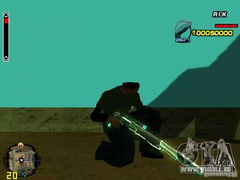 Blue weapons pack für GTA San Andreas sechsten Screenshot