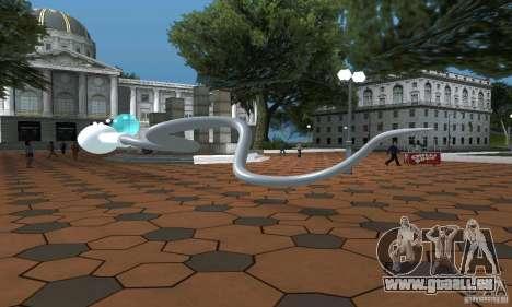 Sperme pour GTA San Andreas sur la vue arrière gauche