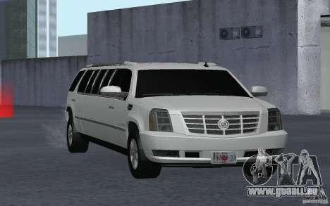 Cadillac Escalade 2008 Limo pour GTA San Andreas vue arrière