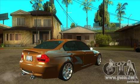 BMW E90 M3 pour GTA San Andreas vue de droite