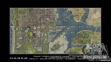 Map Mod v1.2 pour GTA San Andreas deuxième écran