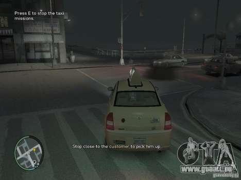 La Mission du chauffeur de taxi pour GTA 4 pour GTA 4 troisième écran