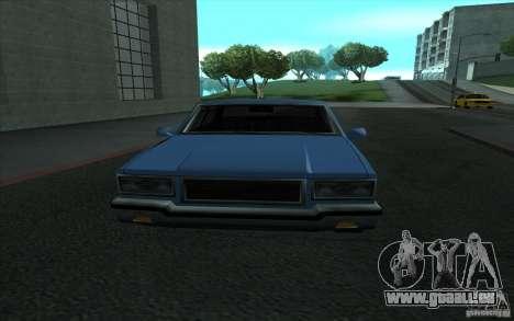 Civilian Police Car LV pour GTA San Andreas vue intérieure