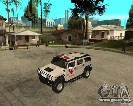 AMG H2 HUMMER - RED CROSS (ambulance) pour GTA San Andreas